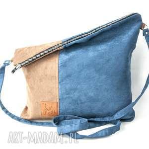 zamszekologiczny torebki niebieskie flor duo