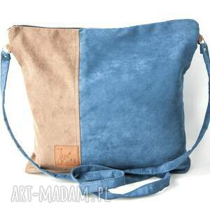 handmade torebki zamszekologiczny flor duo