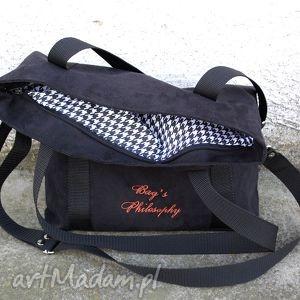 czarne torebki czarna grafitowa sportowa torba z zamszu