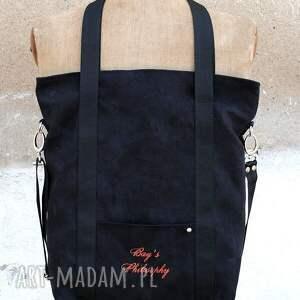 torebki torba grafitowa sportowa z zamszu