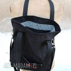 torba torebki białe grafitowa sportowa z zamszu