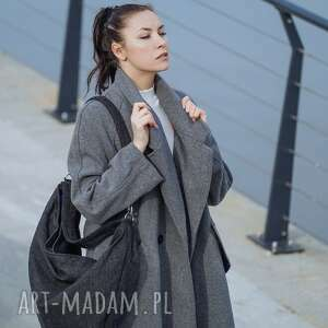modne torebki worek grafitowa torba w kształcie łódki