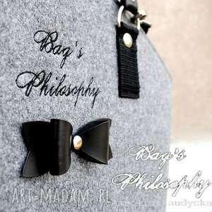 hand-made torebki filc hobo bow!