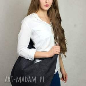 niekonwencjonalne torebki torba hobo xxl czarny harry