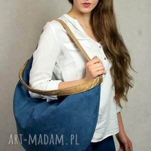 torba torebki niebieskie hobo jagoda/camel