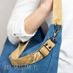 brązowe torebki zamszowa hobo jagoda/camel