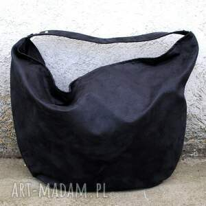 czarna torebki hobo xxl na ramię true colors