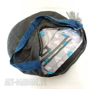 duża torba torebki szare hobo