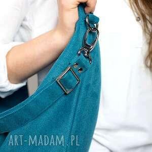 ręczne wykonanie torebki torba hobo xxl true colors - turkus