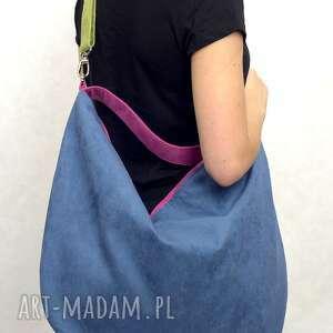 ręcznie zrobione torebki torba hobo xxl true colors - rainbow;-)