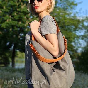 niepowtarzalne torebki torba hobo xxl true colors - orange grey