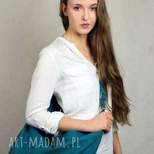 turkusowe torebki torebka hobo xxl true colors - turkus