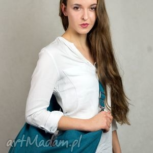 zielone torebki torebka hobo xxl true colors... - turkus