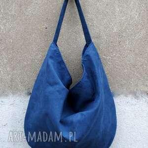 niebieskie torebki torebka hobo xxl na ramię true colors