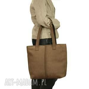torebki torebka jasno brązowa torba ze skóry
