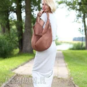 intrygujące torebki torebka jasno brązowa torba worek z zamszu