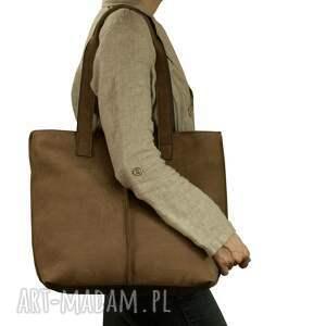 torebka torebki jasno brązowa torba ze skóry