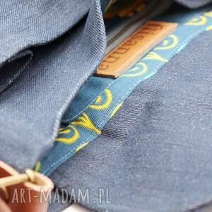 torebki skóra jeansowa listonoszka