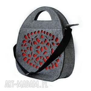 torebki duża jojo - filcowy kufer - szary