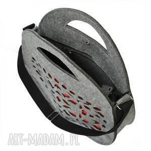folkowa torebki jojo - filcowy kufer - szary