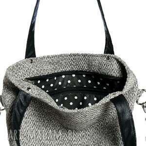 szare torebki torba kangoo s grey bering/black