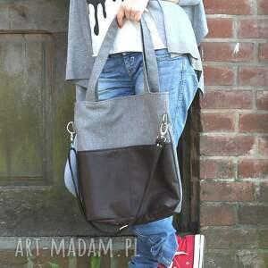ręczne wykonanie torebki torba kangoo slim sawana light brown