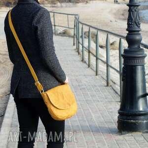 torebka klasyczna żółta listonoszka