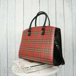 manzana torebki czerwone klasyczny duży kuferek torebka