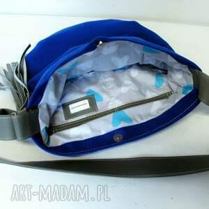 szare torebki niebieska kobaltowa long hobo