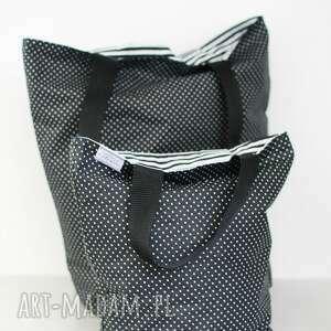 białe torebki lunchbag lady with black