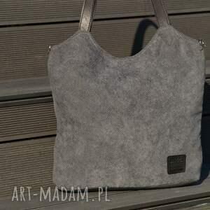 hand made torebki torba lekka i poręczna ciemnoszara