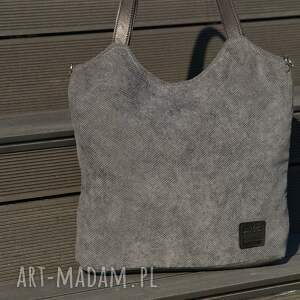 ręcznie zrobione torebki torba lekka i poręczna ciemnoszara