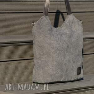 torebka lekka i poręczna ciemnoszara torba