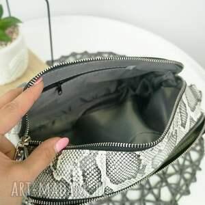 torebka torebki czarne listonoszka dwa zamki imitacja