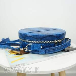 torebka torebki niebieskie listonoszka w kształcie koła