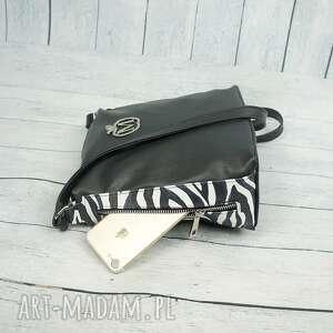 torebki czarno-biała listonoszka zameczki modny motyw