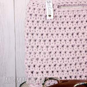 szydełko torebki różowe looped szaroróż