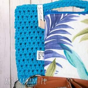 Just Catch Handmade torebki: looped turkus - bawełna bawelna