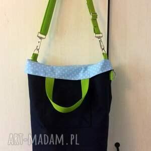 088036332a28e torebki hand made - lubię cath granatowo zielona