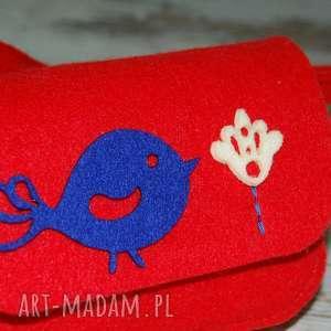 czerwone torebki torebeczka malutka torebka z filcu