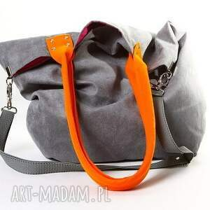 ręczne wykonanie torebki manamana mana mysza orange