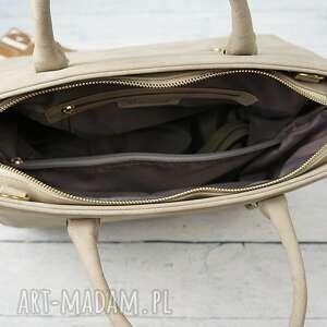 torebka torebki beżowe manzana duża kuferek trapez