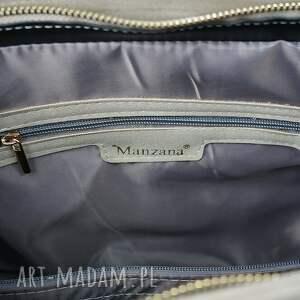 torebki damska manzana duża torebka kuferek trapez