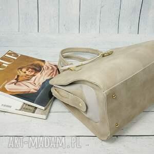 szare torebki torba manzana duża torebka kuferek trapez