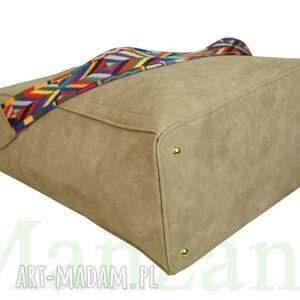 duży torebki manzana kuferek zamszowy etno