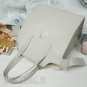 torebka torebki szare manzana kuferek xxl z wiązaniami po
