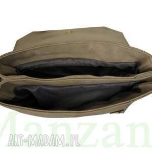 eleganckie torebki listonoszka manzana z naszywkami