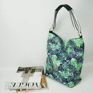 zielone torebki worek manzana torebka palmy