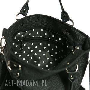 czarne torebki czarna miejska grafitowo - torba