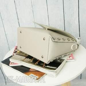 torebka torebki szare mini kuferek listonoszka ćwieki